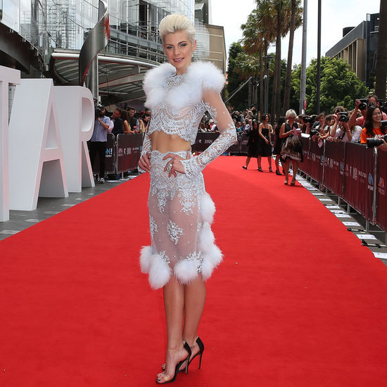 Kate Peck at the 2014 ARIAs in Dyspnea's White, Fluffy Skirt