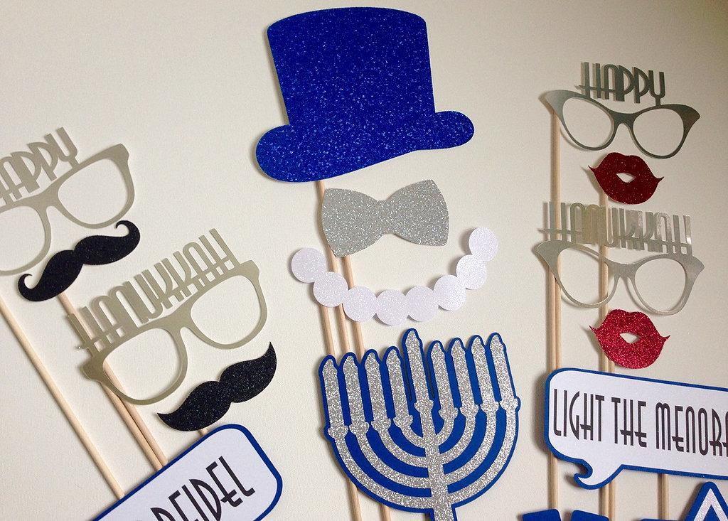 Hanukkah Photo Booth Props