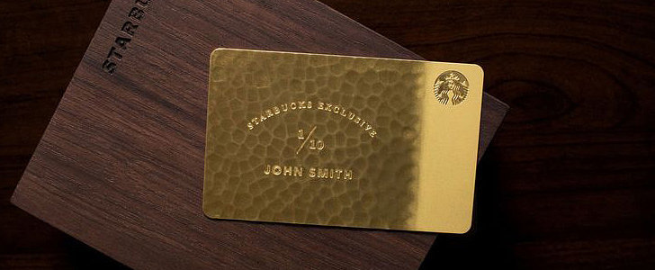 Starbucks's Literal (10-Carat) Gold Card Is Worth Approximately $5,000