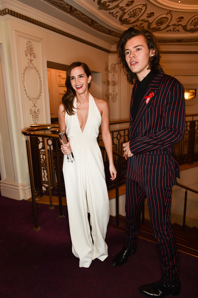 Emma watson and harry styles at 2014 british fashion awards popsugar celebrity australia Emma watson fashion and style