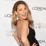 Pregnant Blake Lively Baby Bump Pictures at L'Oreal Event