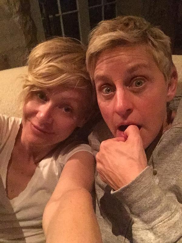 Ellen and Portia got ready to watch a November 2014 episode of Scandal.