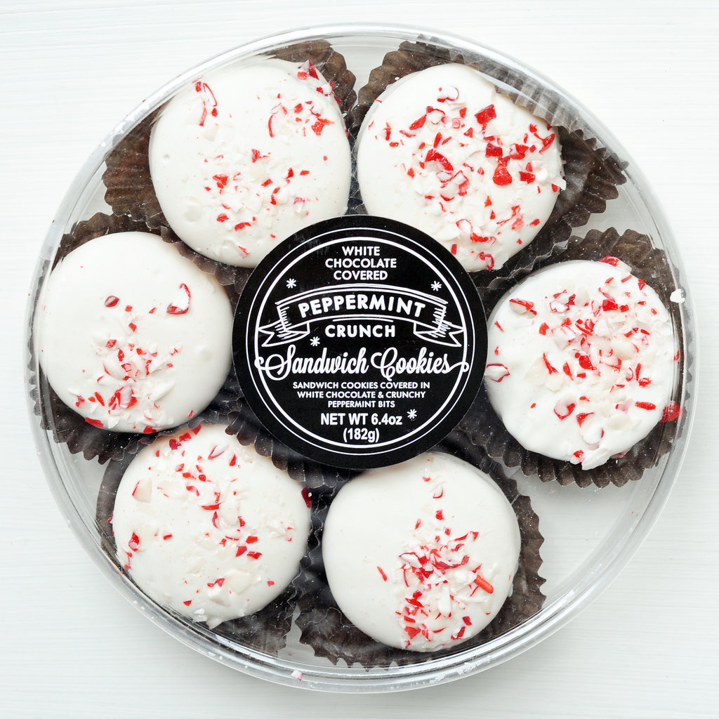 Target White Chocolate Covered Peppermint Crunch Sandwich Cookies