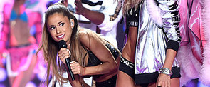 Here's the Exact Moment Ariana Grande Got Smacked by a Victoria's Secret Angel