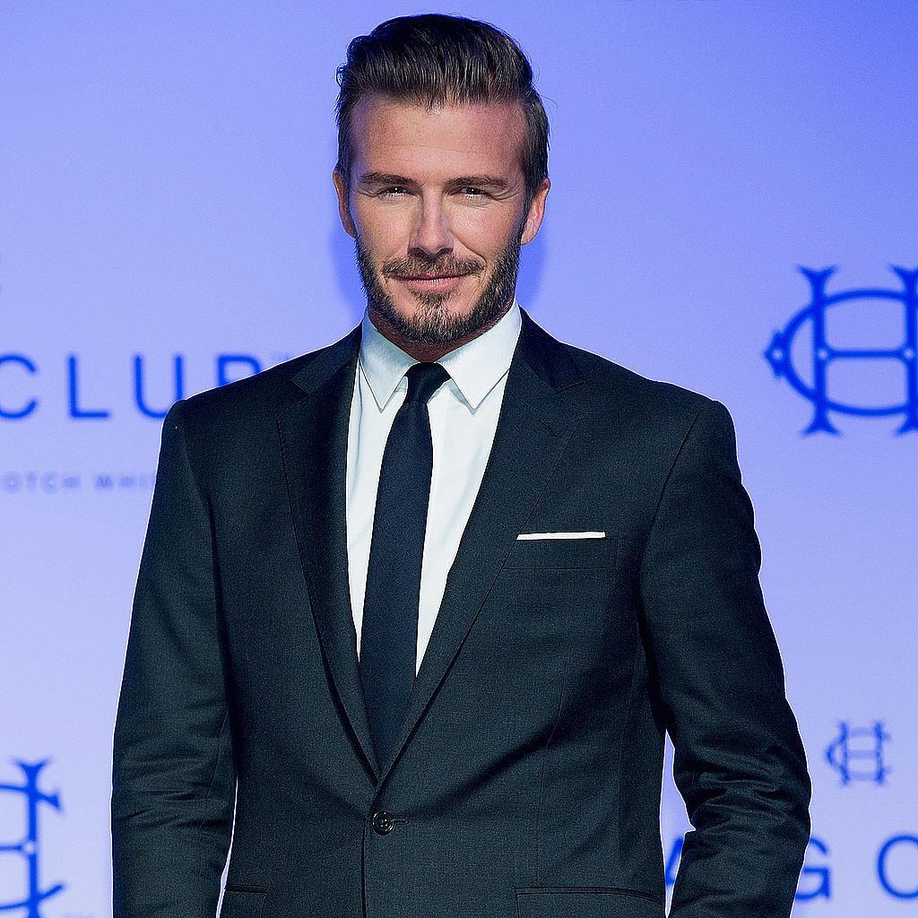 David Beckham Launching Fashion Line | POPSUGAR Fashion