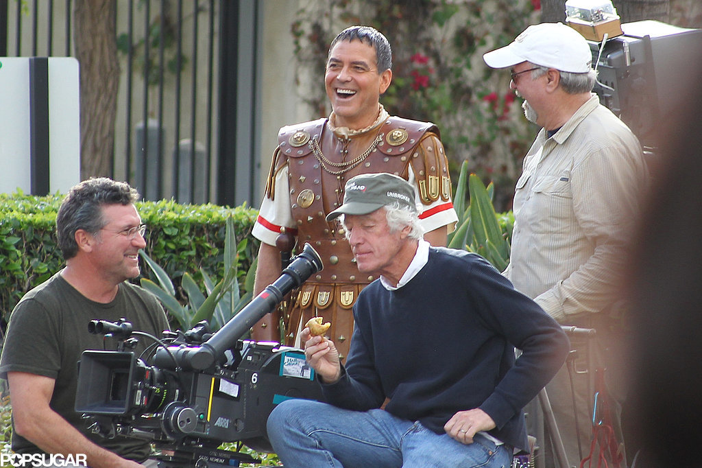 Hail Caesar filming in L A - George Clooney on the set George-Clooney-Set-Hail-Caesar-Pictures
