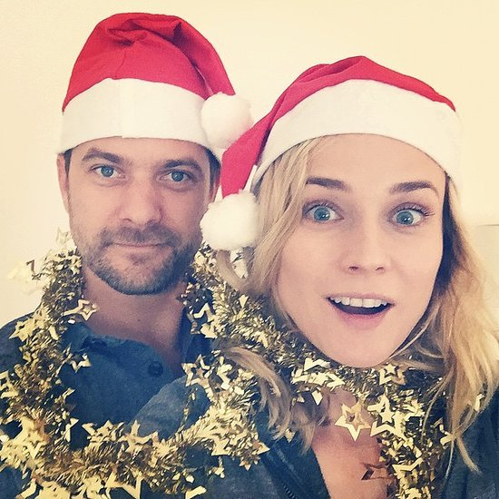Diane Kruger and Joshua Jackson Christmas Card Selfie