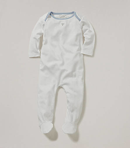 Burt's Bees Baby Monogrammed Bee Luxe Coverall
