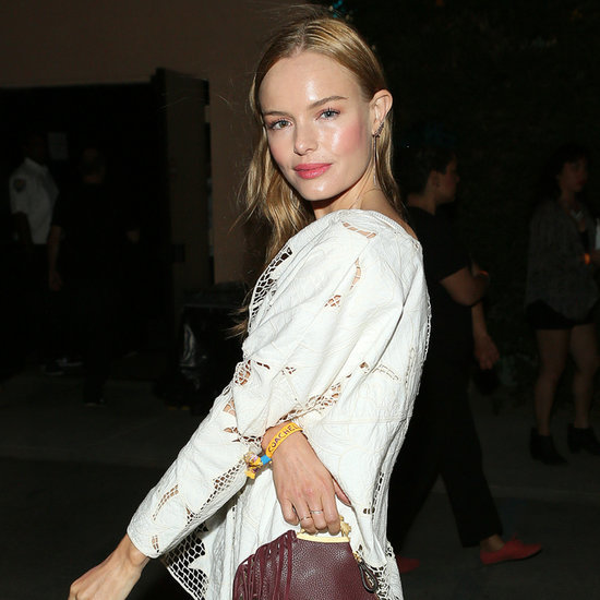 Kate Bosworth Wearing Brown Leather Shorts