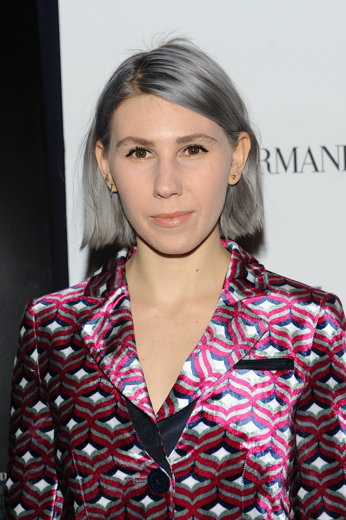 Girls star Zosia Mamet traded her platinum blond locks for silvery strands and showed off the new look at an appearance last night in New York for A Most Violent Year.