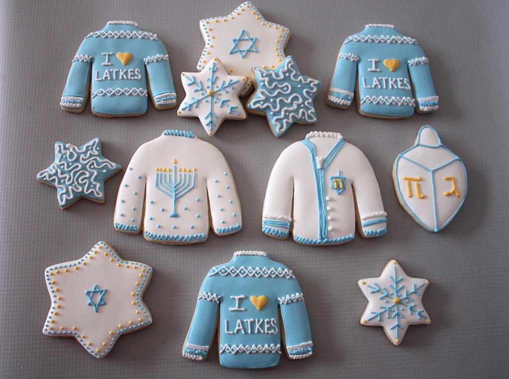 Ugly Sweater Hanukkah Cookies