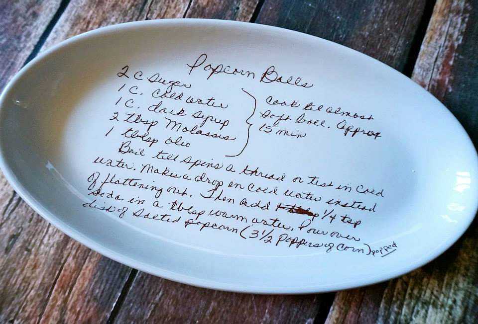 The Keeper of Family Cuisine: PH Pottery Recipe Plate