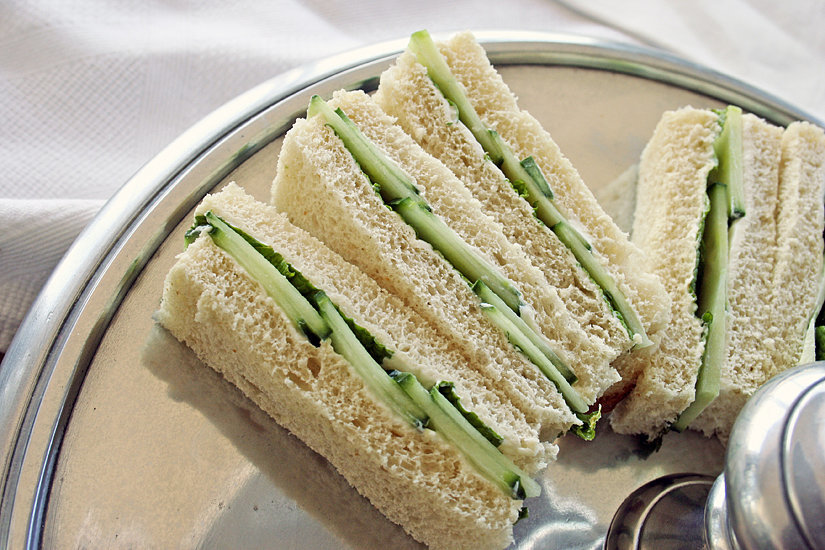 Cucumber Cream Cheese Finger Sandwiches