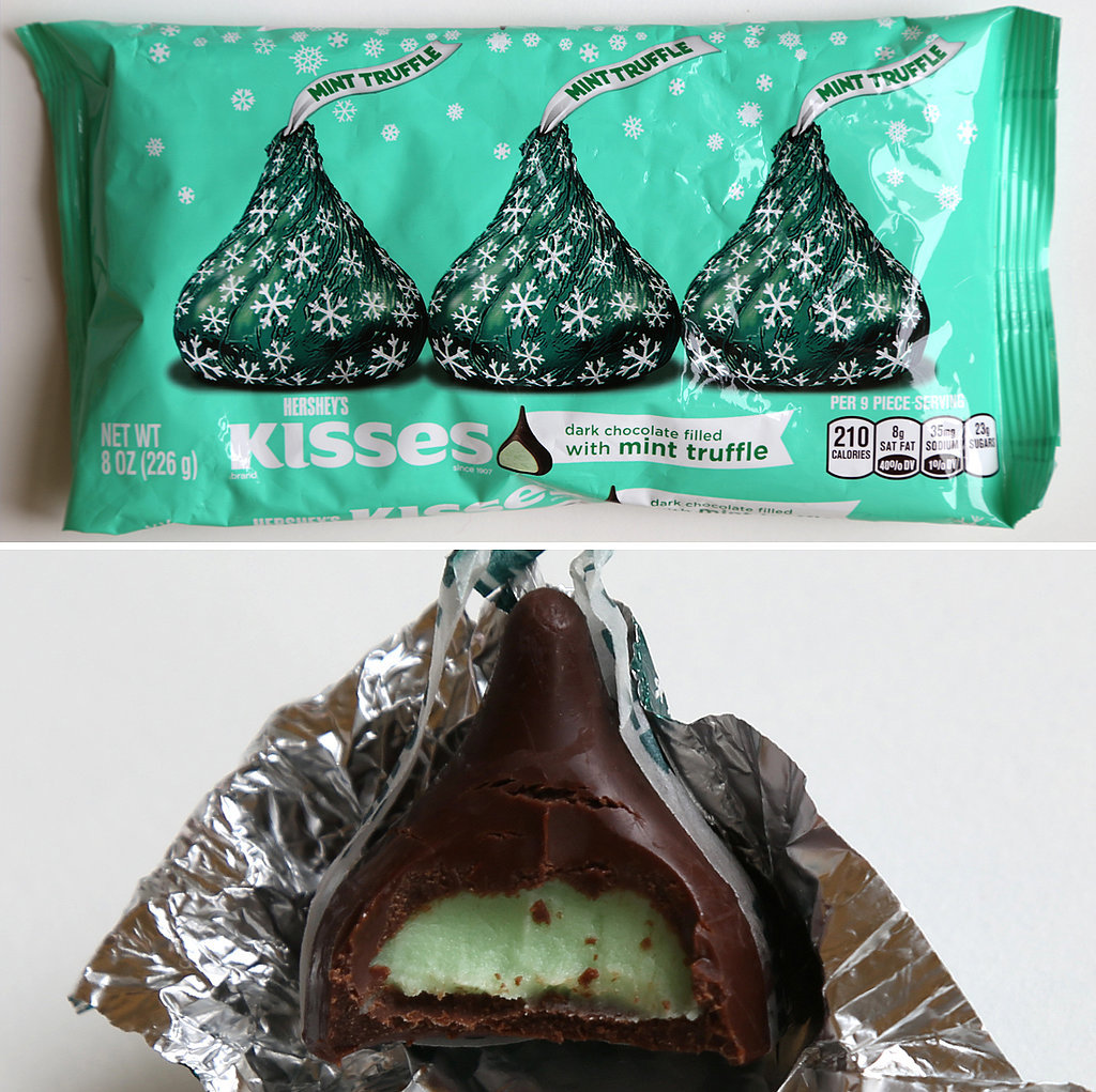 Hershey's Kisses Dark Chocolate Filled With Mint Truffle