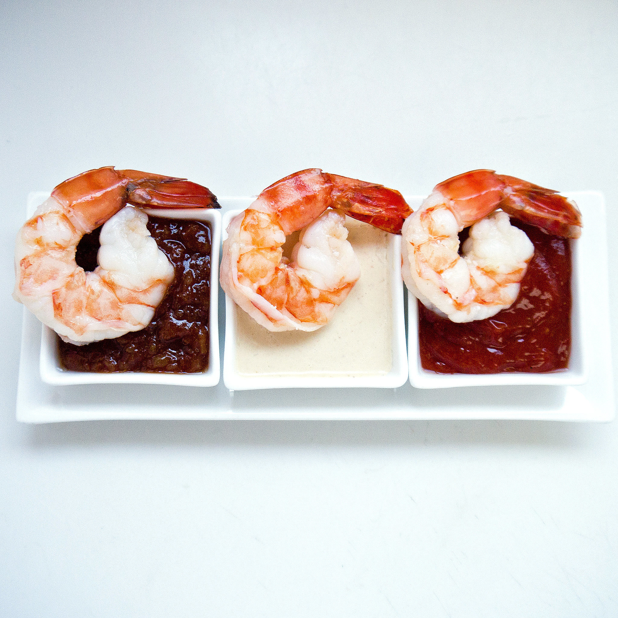 Poached Shrimp With 3 Sauces | Throw an Ugly Sweater Party With Retro ...