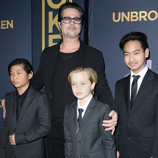 Brad Pitt and His Kids at LA Unbroken Premiere | Pictures