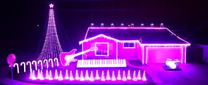 The House With the Geekiest Christmas Light Display Ever