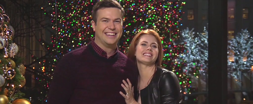 Amy Adams Really Gets Into the Holiday Spirit in Her SNL Promos