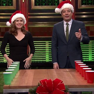 Amy Adams Playing Flip Cup on Jimmy Fallon