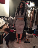 Kim Kardashian Posts Photo of Her Messy Closet With North West