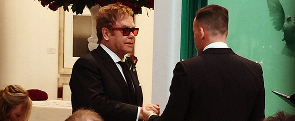 Elton John Is Married — See His Wedding Photos!