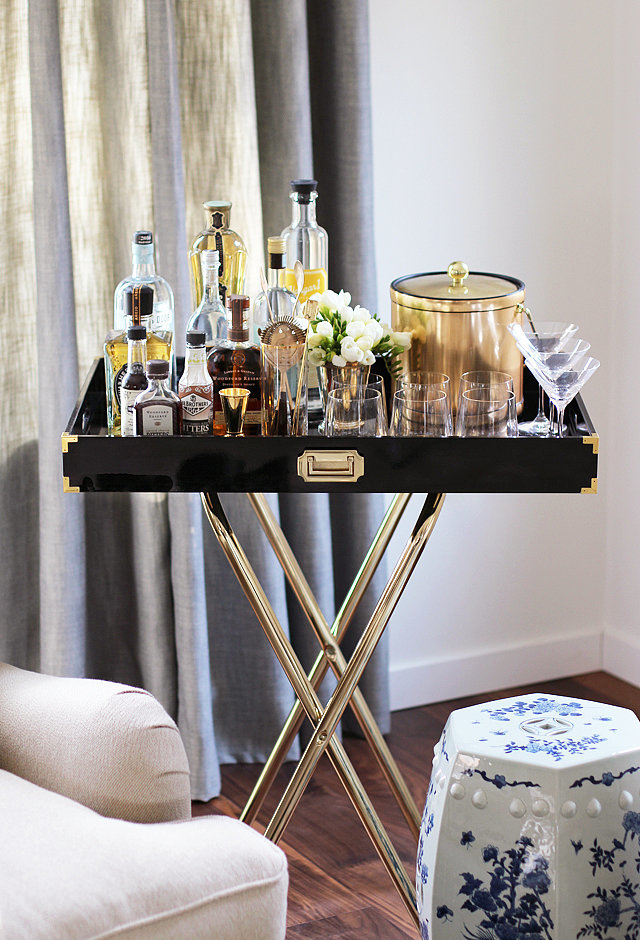 Glam bar cart