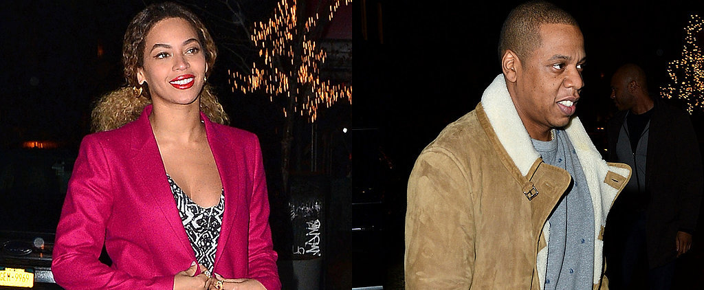 Beyoncé Looks Pretty in Pink For a Night Out With Jay Z