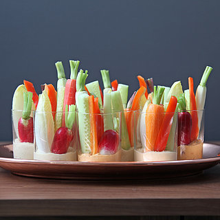 Individual Hummus and Crudites Appetizers