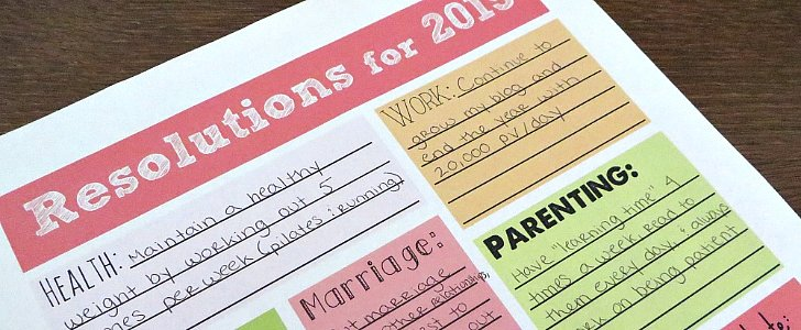 11 Free Resolutions Printables to Help Ring in the New Year