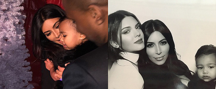 North's Holiday Pictures With Kim and Kanye Are Supercute