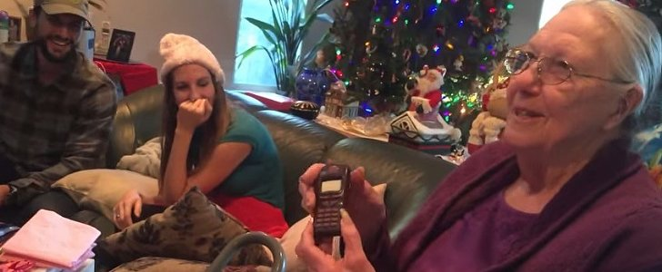Watch Grandma's Reaction When She Gets Pranked With a Chocolate iPhone