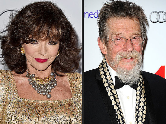 Joan Collins and John Hurt Honored by Queen Elizabeth II