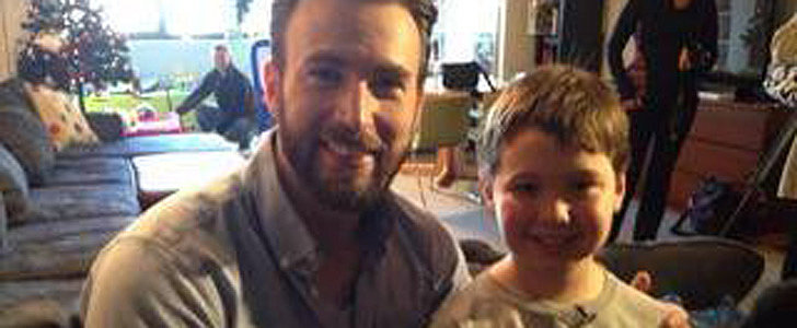 Chris Evans Visiting Sick Kids in Boston Will Melt Your Heart