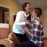 Girl Freaks Out Over Christmas-Morning Proposal