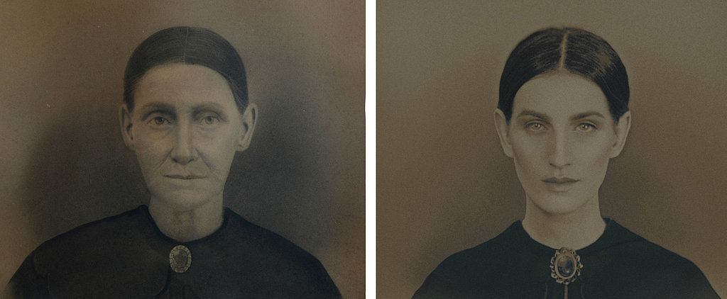 1 Woman Transforms Into Her Maternal Ancestors Using Photoshop