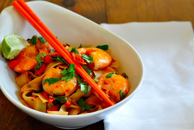 Shrimp Stir-Fry With Rice Noodles | Takeout Fakeout: 10 Restaurant ...