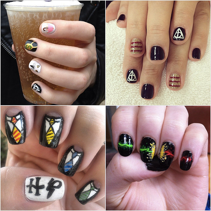 Nail Art Ideas: Harry Potter Nail Art Ideas