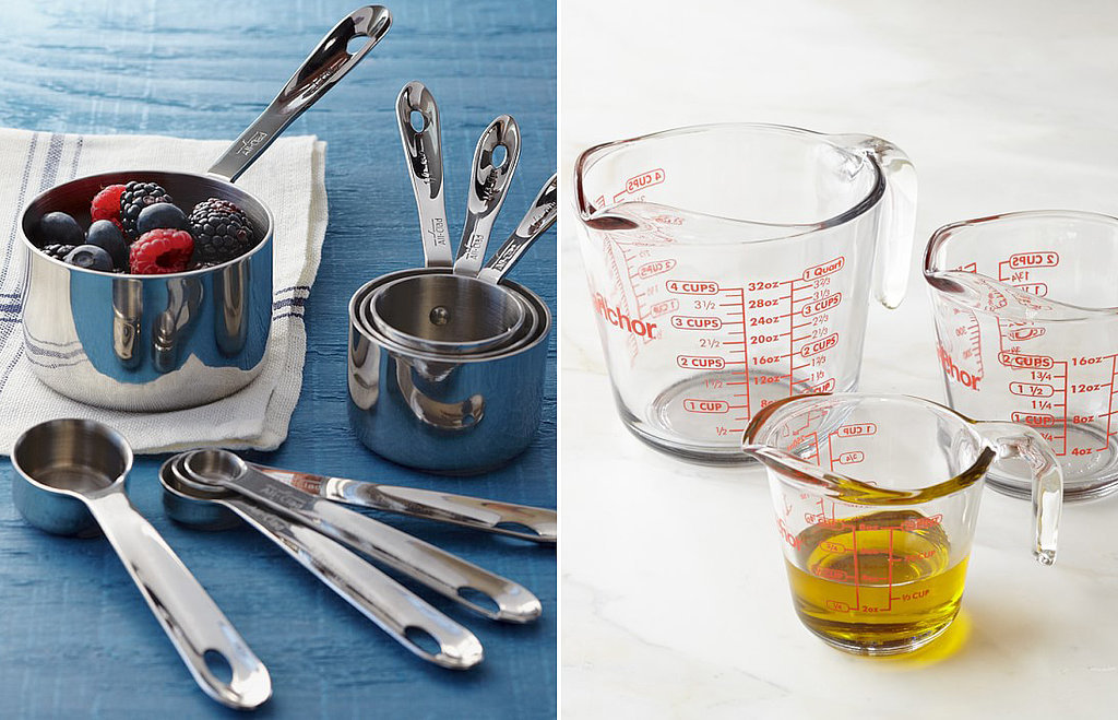 Use Liquid and Dry Measuring Cups