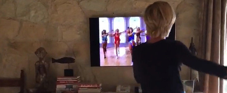 Ha! Ellen DeGeneres Secretly Filmed Portia Doing a Jane Fonda Workout