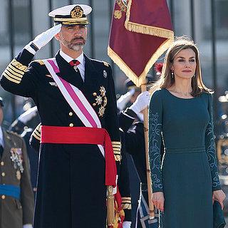 Das spanische Königspaar bei der Militärparade in Madrid