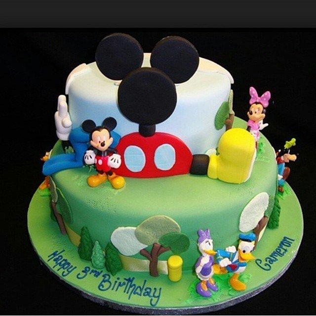 Детский торт миккимаус фото