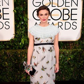 Keira Knightley In Chanel Dress at 2015 Golden Globes