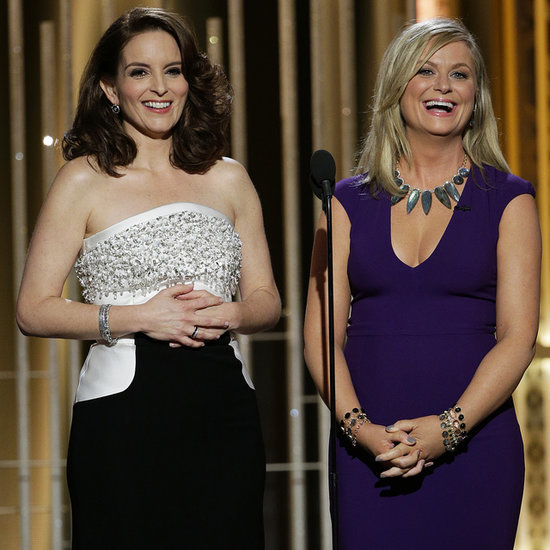 Amy Poehler and Tina Fey at the Golden Globe Awards 2015