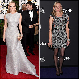 Diane Kruger Dresses at 2015 Golden Globes and After-Party