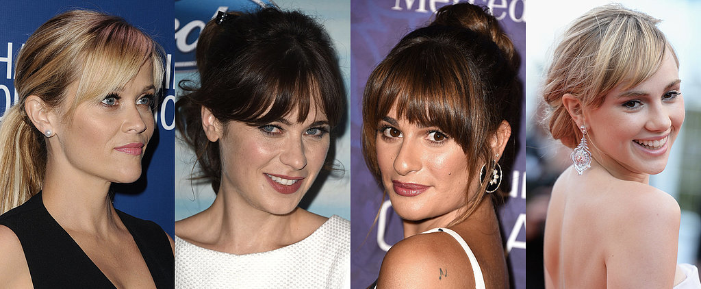 Don't Let Your Fringe Stop You From Trying Amazing Up 'Dos
