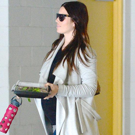 Pregnant Jessica Biel Grabbing Lunch in LA 2015
