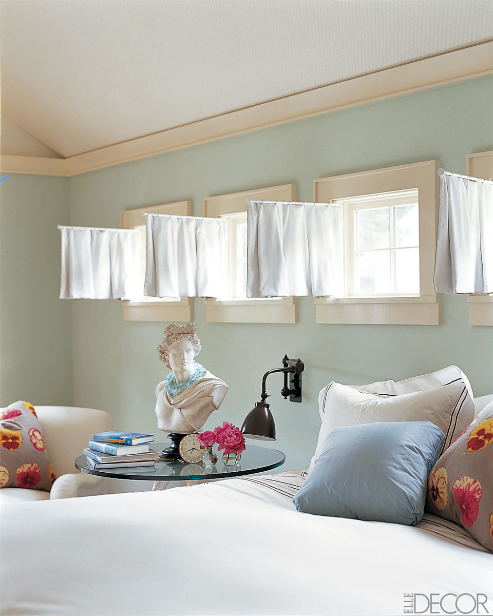 Small windows how to dress your most awkward windows popsugar home Window coverings for bedrooms