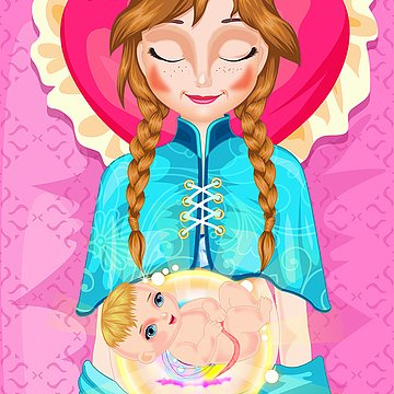 Frozen's Anna Gving Birth App