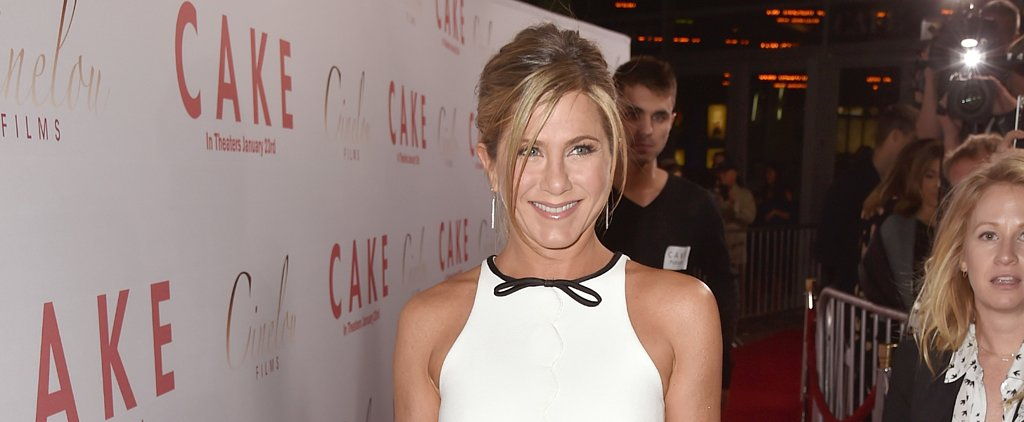 Jennifer Aniston Shows Some Skin at the Cake Premiere