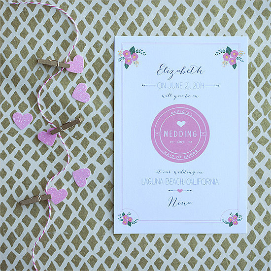 You can personalize and print this card out for free! Source: Wedding Chicks